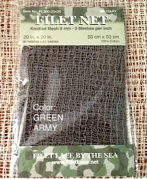 "FILET NET 3-20""x20""-GreenArmy3-MILITARY"