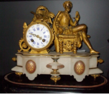 FRENCH GILT MANTEL CLOCK circa 1860