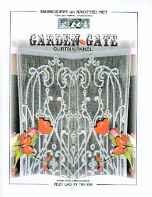 GARDEN GATE  - Filet Lace Pattern